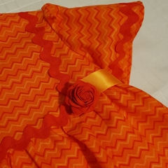 'The Orange One' - cute 70s style top in bright orange. Size 1