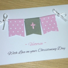 Personalised Girls Christening - Baptism - Naming Day Card
