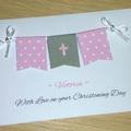 Personalised Girls Christening - Baptism - Naming Day Card