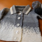 Baby Hand knit pure wool Cardigan