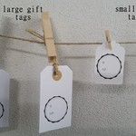 Hand-Stamped Gift Tag (Large)