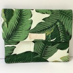 Laptop sleeve in Tommy Bahama palm fabric