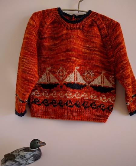 Nautical wool jumper