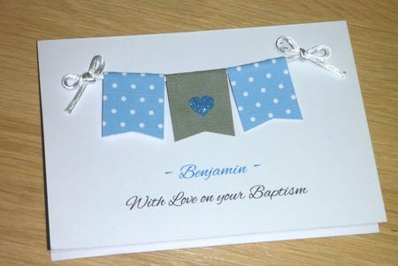 Personalised Boys Christening -Baptism - Naming Day Card