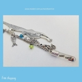 FRIENDS FOREVER - silver colour mermaid bookmark