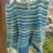 child's hand knitted skirt. 100% cotton, blues ON SALE!!!!