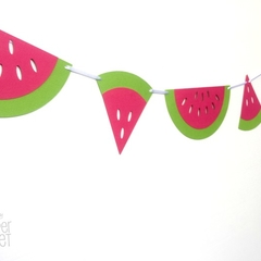 Watermelon Garland. Pink & Green. Photo prop. Birthday Party decorations.