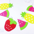 Tutti Fruitti Party Banner. Strawberry, watermelon, pineapple. Birthday party bu