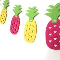 Tutti Fruitti Party Banner. Strawberry, watermelon, pineapple. Birthday party bu
