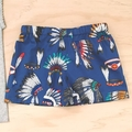 Size 1 -  Singlet & Shorties set - Indian Head Dress - Feathers - Baby Boys -