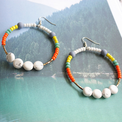 Breezy days beaded Earrings