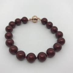 Bordeaux Pearl and Rose Gold Bracelet
