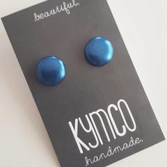 Shimmer earrings - studs, various colours