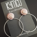 Swirls + Circle Earrings