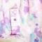 Cotton muslin wrap - Pink watercolour