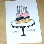 Female Birthday card - cake