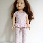 PINK TOP AND LEGGINGS SET FOR 46 cm (18 in) DOLL