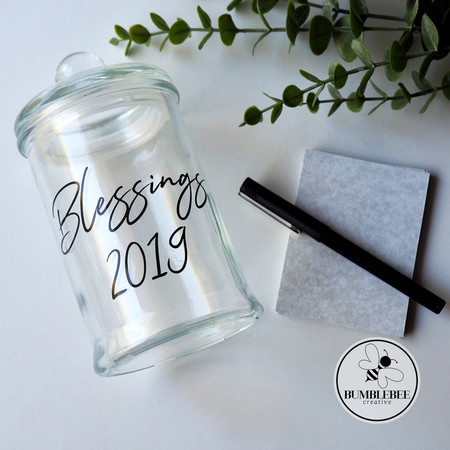 Blessings Memories Thankful Memory Jar Sticker - Great DIY Gift idea