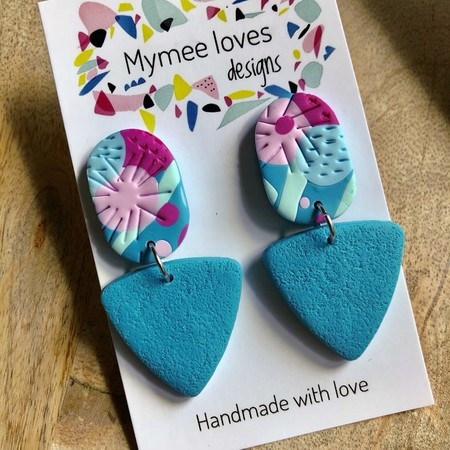 Gorgeous handmade polymer clay earrings