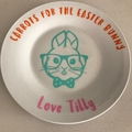 Easter Bunny Decal - carrots for the Easter Bunny, personalised vinyl decal