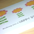 Female Happy Birthday card - 3 flowers