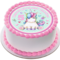 Little Princess Unicorn Icing  Personalized Circle Cake Topper