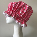 Shower Cap. Eco-Friendly. Handmade. PVC BPA Free. Child and Adult Sizes