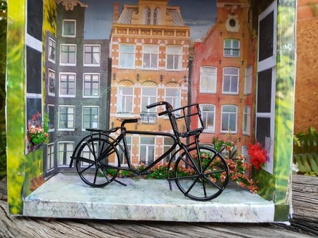 home decor miniature  display box,'' amsterdam'