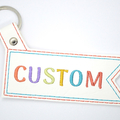 Personalised Embroidered Bag Tag