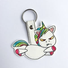 Angry Unicorn Embroidered   Keyring