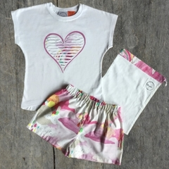 Pink love PJ set
