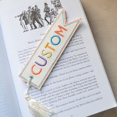 Personalised Embroidered Bookmark