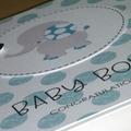 Baby Boy card - elephant