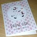 Baby Girl card - baby unicorn