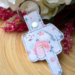 The Bird Embroidered  Keyring