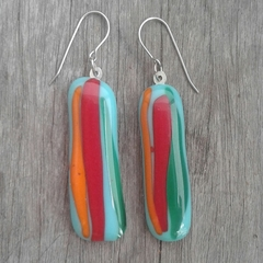 Fuseglass earrings - Glorious Summer Garden Bloom