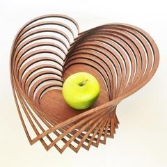 Heart shaped jarrah bowl