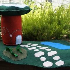 Plush fairy house playmat set