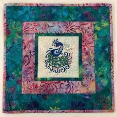 Batik table centre - Peacock