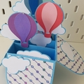 Hot Air Balloon Box Card