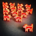 Dog stud earings (1 x pair)