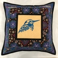 Australiana cushion cover - Kingfisher