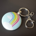 Bag tag/key ring - Rainbows and more