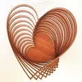 Heart shaped jarrah bowl