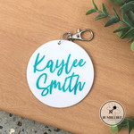 7cms Personalised Keyring Key chain or Bag Tag with tassel  *Mother's Day Gift*
