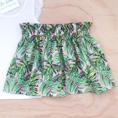 Size 3 - Skirt - Palm Leaves - Retro - Cotton - Girls