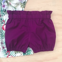 Size 3 - Bubble Shorties - Purple - Bloomers - Retro -