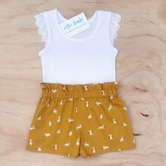 Flutter Singlet - Girls top - White - Lace Sleeves