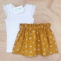 Skirt - Mustard Bunnies - Rabbits - Easter - Girls - Sizes 1-5