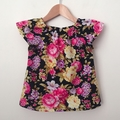 Choose your size 000-2 Smock Top - Navy Floral - Pink - Yellow - Cotton